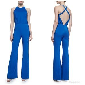 L'Agence Cross-Back French Blue Jumpsuit NWT $485